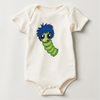Wigworm with Blue Hair Baby Bodysuit
