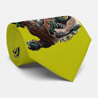 WII bulldog dog soldier Sgt. Rover Neck Tie