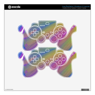wii controller, color, abstract PS3 controller decal
