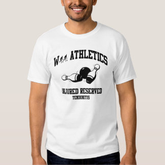 Wii Injured Reserved Bowling D1 T-shirts