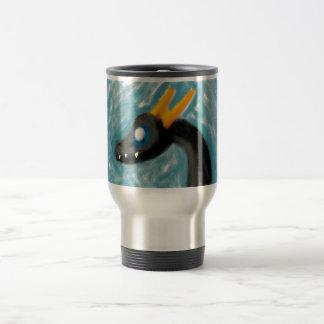 Wii U Art - Black Dragon w/ Gold Horns Travel Mug