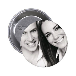 Wiilliam & Kate 2 Inch Round Button