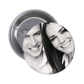 Wiilliam y Kate Pin Redondo De 2 Pulgadas