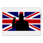 Wiinston Churchill British bulldog Card