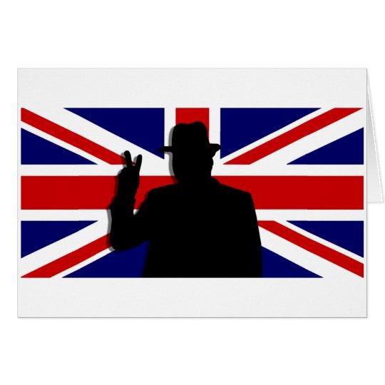 Wiinston Churchill British bulldog Card
