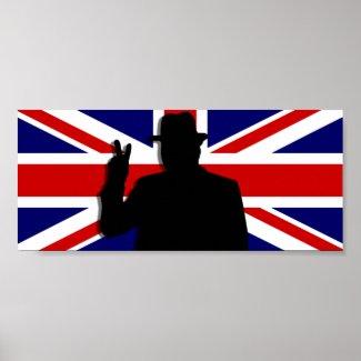 Wiinston Churchill British bulldog print