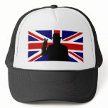 Wiinston Churchill British bulldog Trucker Hat
