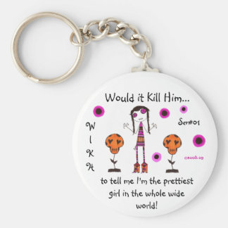 WIKH Ser#01 Kill me with Compliments Basic Round Button Keychain