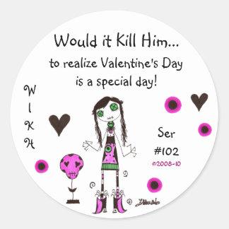 WIKH Ser#102 Holidays & Occasions Do Matter! Round Sticker