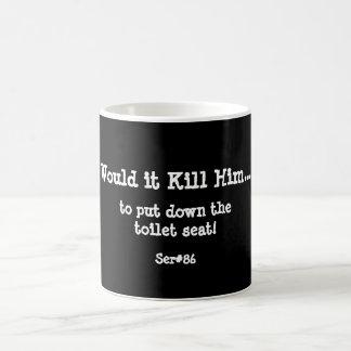 WIKH Ser #86 Goes Right Through Me! Classic White Coffee Mug