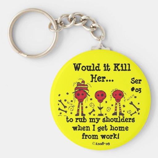WIKHer Ser#03 Keychain Rub My Shoulders