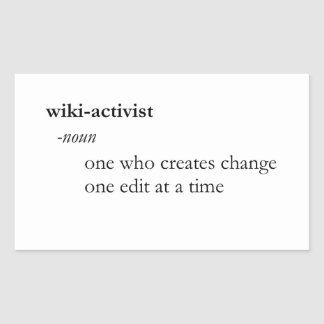 Wiki-activist Sticker