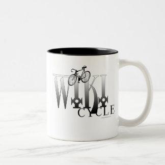 WIKI CYCLE Two-Tone COFFEE MUG