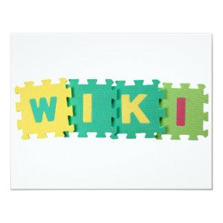 """Wiki Invitación 4.25"""" X 5.5"""""""