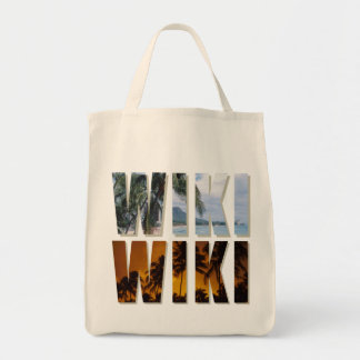 """""""Wiki-Wiki"""" (Hurry up!) Tote Tote Bags"""