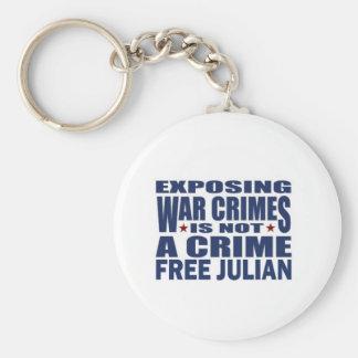 WikiLeaks - Julian Assange Basic Round Button Keychain