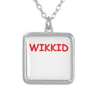 wikkid square pendant necklace