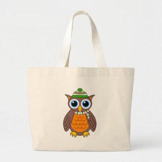 Wilbert the Owl Large Tote Bag