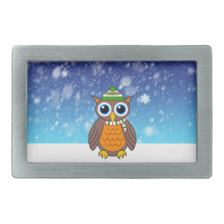 Wilbert's First Snowfall Rectangular Belt Buckle