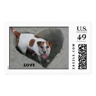 Wilbur Dog LOVE Postage