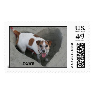Wilbur Dog LOVE Postage Stamp