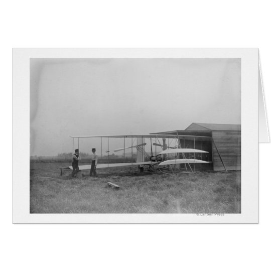 Wilbur & Orville Wright in 2nd powered machine Card