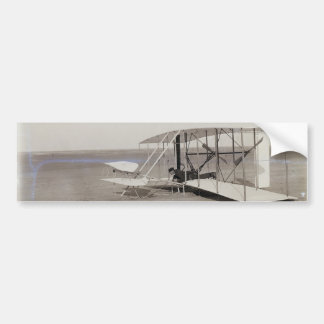 Wilbur Wright in Prone Position in Damaged Machine Bumper Stickers