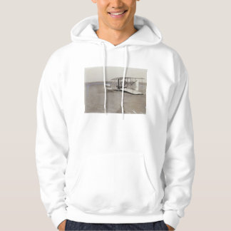 Wilbur Wright in Prone Position in Damaged Machine Hoodie