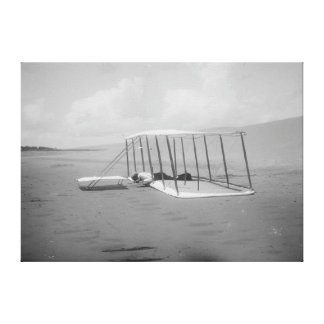 Wilbur Wright in prone position on Canvas Prints