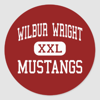 Wilbur Wright - Mustangs - Middle - Munster Stickers