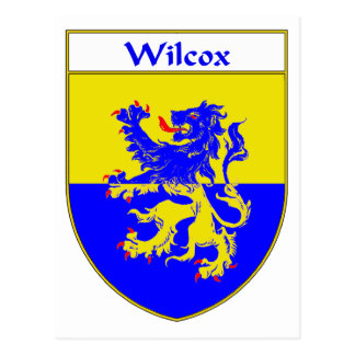 Wilcox Coat of Arms/Family Crest Postcard