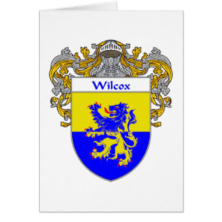 Wilcox Coat of Arms (Mantled) Card