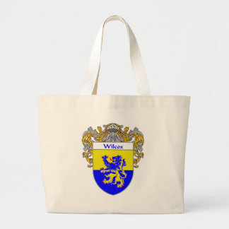 Wilcox Coat of Arms (Mantled) Large Tote Bag