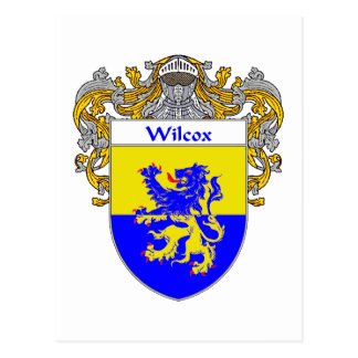 Wilcox Coat of Arms (Mantled) Postcard
