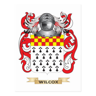 Wilcox Family Crest (Coat of Arms) Postcard