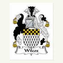 Wilcox Family Crest Postcard