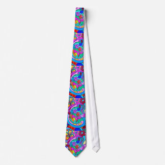 wild 70's love colors tie