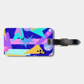 Wild 80's Pattern Suitcase Tag