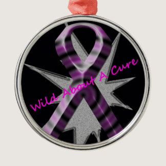 Wild About A Cure Premium Round Ornament