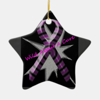 Wild About A Cure Star Ornament