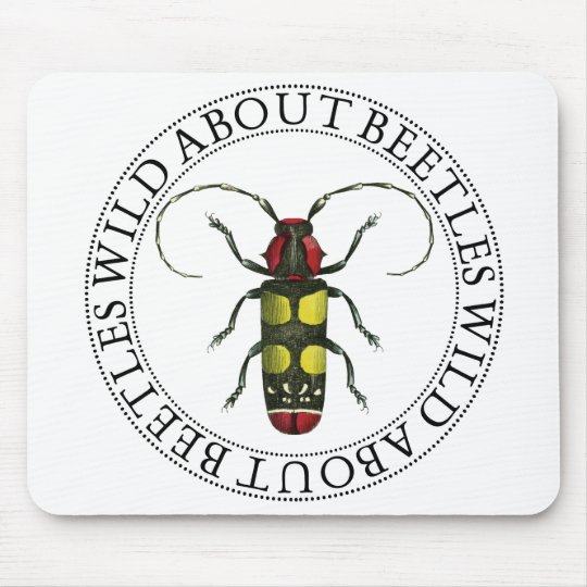 Wild About Beetles Mouse Pad