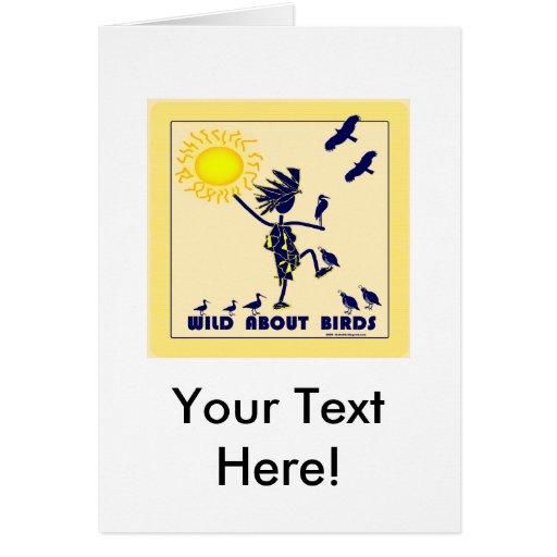 Wild About Birds - Bird Watching Greeting Card