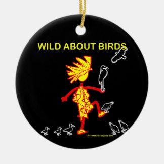 Wild About Birds Designs Ceramic Ornament