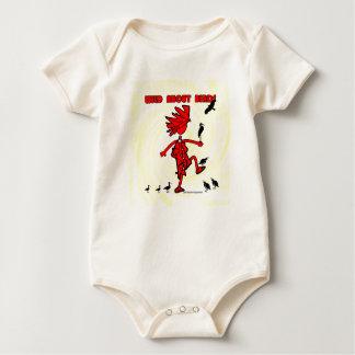 Wild About Birds Red Design Baby Bodysuit