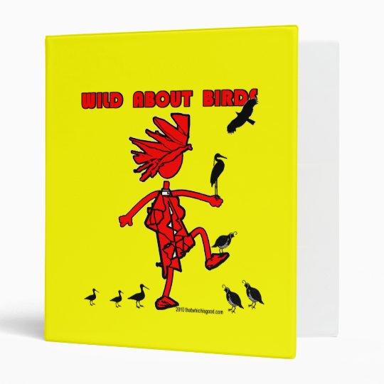 Wild About Birds Red Design Binder