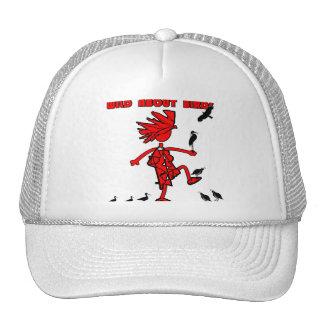Wild About Birds Red Design Trucker Hat