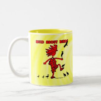 Wild About Birds Red Design Two-Tone Coffee Mug