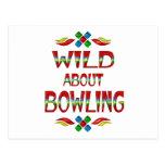 Wild About Bowling Postcard
