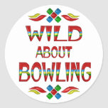 Wild About Bowling Stickers