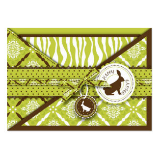 Wild About Bunnies Gift Tag Large Business Card